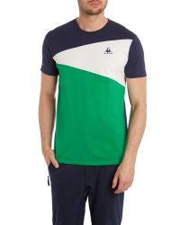 Le Coq Sportif | Green Tricolores Soulor Short Sleeve T-shirt for Men | Lyst