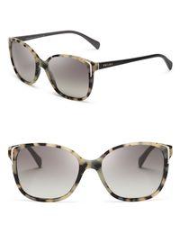 Prada - Gray Square Sunglasses - Lyst