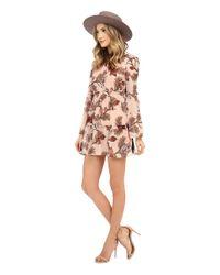 For Love & Lemons Multicolor Santa Rosa Mini Dress