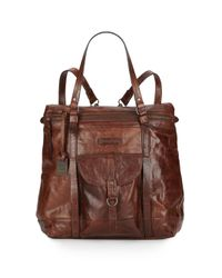 Frye | Brown Josie Leather Backpack | Lyst
