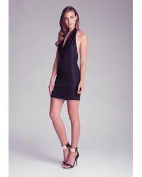 Bebe Black Halterneck Waistband Dress