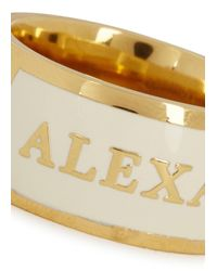 Alexander McQueen | White Cream Enamel Ring | Lyst