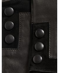 John Varvatos | Black Nappa Sheepskin Snap Glove for Men | Lyst