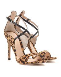 Gianvito Rossi - Multicolor Printed Calf-Hair Sandals - Lyst