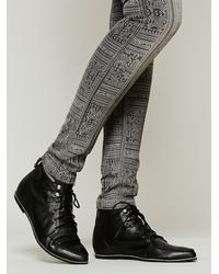 Free People - Black Painted Bird Western Boot - Lyst