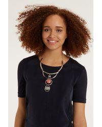 Oasis - Multicolor Triple Stone Necklace - Lyst