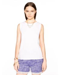 kate spade new york | White Sleeveless Fitted Tee | Lyst