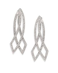 Adriana Orsini | Metallic Elevate Pavé Crystal Double-sided Drop Earrings | Lyst