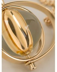 Chloé Metallic Sphere Pendant Necklace