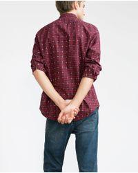 Zara | Blue Check Shirt for Men | Lyst