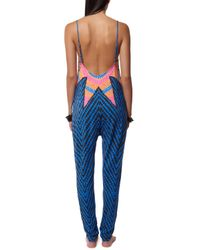 Mara Hoffman | Blue Low Back Jumpsuit | Lyst