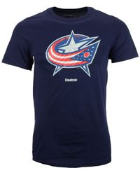 Reebok Men's Short-sleeve Columbus Blue Jackets Primary Logo T-shirt for men