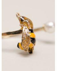 Delfina Delettrez - Yellow 'little Bee' Ring - Lyst