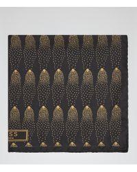 Reiss | Metallic Steller Silk Pocket Square for Men | Lyst