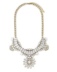 Forever 21 | Metallic Art Deco Statement Necklace | Lyst