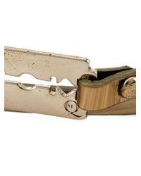 McQ - Metallic Razor Blade Double Wrap Bracelet - Lyst