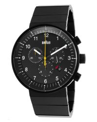 Braun - Men's Prestige Chronograph Black Ip Stainless Steel And Dial for Men - Lyst