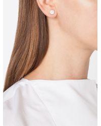 Pomellato - Metallic Diamond Stud Earrings - Lyst