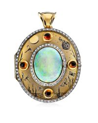 Theo Fennell Multicolor Opal Night & Day Locket