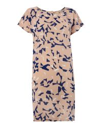 Ichi | Blue Bonip Knee Length Dress | Lyst