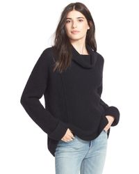 Free People | Black 'sidewinder' Wool Pullover | Lyst