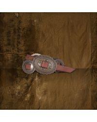 Denim & Supply Ralph Lauren Brown Concho Leather Belt