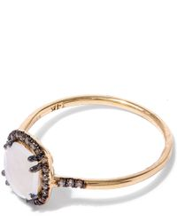 Suzanne Kalan | Metallic Gold Cushion Moonstone Diamond Ring | Lyst