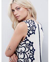 Free People - White Womens Geodesic Dunes Shift Dress - Lyst