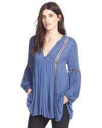 Free People | Blue 'just The Two Of Us' Tunic | Lyst
