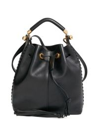 Chloé | Black 'medium Gala' Calfskin Bucket Bag | Lyst