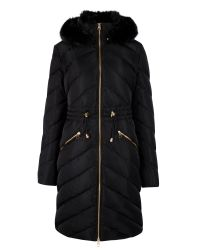 Ted Baker Black Holoww Quilted Down Parka
