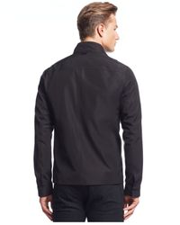 Michael Kors | Black Tech Shirt Jacket for Men | Lyst