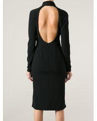 Tom Ford Black Backless Dress