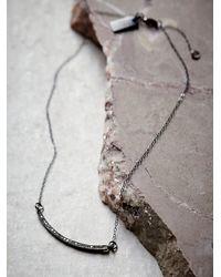 Free People | Metallic Pave Diamond Crescent Choker | Lyst