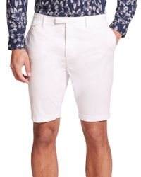 Michael Kors | White Cotton Twill Slim-fit Shorts for Men | Lyst