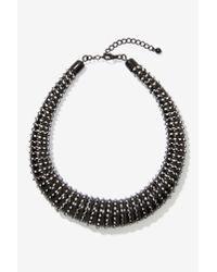 Nasty Gal | Black Roped In Collar Necklace | Lyst