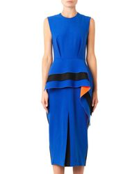 ROKSANDA Blue Mariya Contrast-Panel Dress