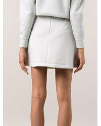 Être Cécile Blue Mini A-Line Skirt