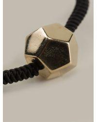 Luis Morais | Black Gold Detail Fine Bracelet for Men | Lyst