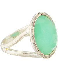 Ippolita Green Silver Turquoise Rock Candy Lollipop Ring