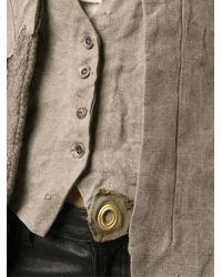 Greg Lauren Green Tweed Duffle Camelot Jacket