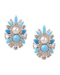 Shourouk - Blue Earrings - Lyst