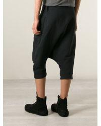 Lost & Found - Black Drop-Crotch Shorts for Men - Lyst