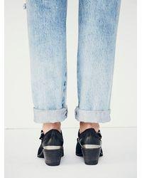 Free People - Black Landlocked Western Ankle Boot - Lyst