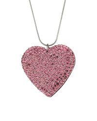 Mikey | Pink Flat Heart Necklace | Lyst