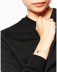KENZO | Metallic Gold Plated Mini Tiger Bracelet | Lyst