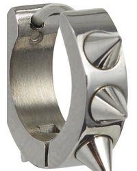 MFP MariaFrancescaPepe | Metallic Silver Tone Studded Hoop Earrings | Lyst