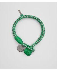 Bottega Veneta Green Bracelet In Irish Intrecciato Nappa And Ayers