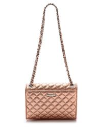 Rebecca Minkoff Pink Quilted Mini Affair Bag Rose Gold
