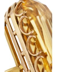 Fred Leighton - Metallic 1940S 18-Karat Gold Citrine Ring - Lyst